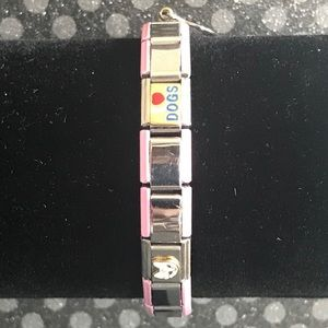 Jewelry - ❤️ 3/$25 Pink Stainless Steel Charm Bracelet